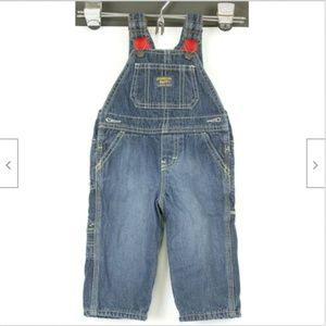 OshKosh Boys 9 mth Blue Denim Vestbak Overalls